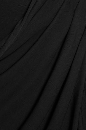 BADGLEY MISCHKA Draped jersey gown