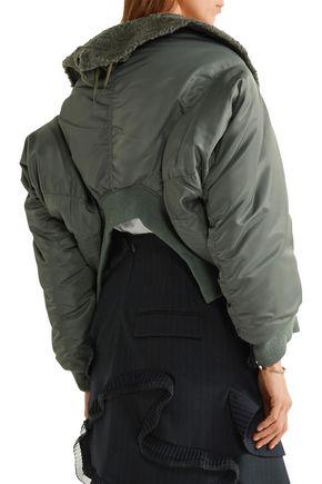 JUNYA WATANABE Faux fur-trimmed satin-twill jacket