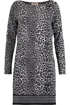 MICHAEL MICHAEL KORS Leopard-print stretch-jersey mini dress