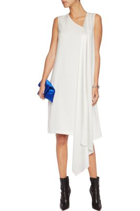 DKNY Draped satin-crepe dress