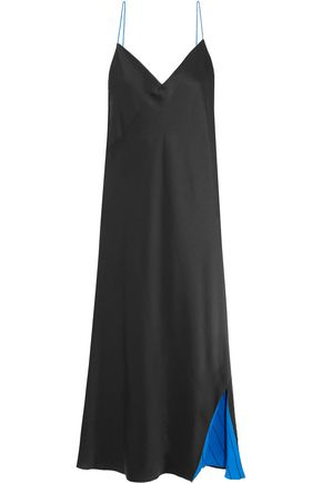 DKNY Reversible satin slip dress