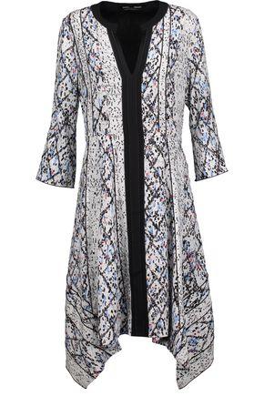 PROENZA SCHOULER Tie-front printed silk-georgette dress