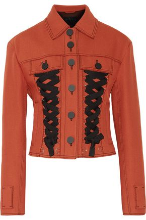 PROENZA SCHOULER Cropped lace-up twill jacket