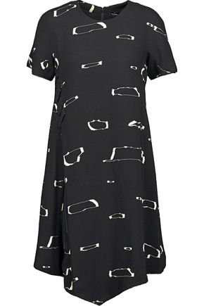 PROENZA SCHOULER Tied printed crepe mini dress