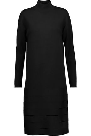 PROENZA SCHOULER Cutout-paneled merino wool-blend turtleneck dress