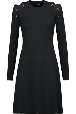 PROENZA SCHOULER Lace-up stretch-knit mini dress