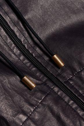 ISABEL MARANT Branden leather hooded coat