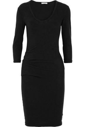 JAMES PERSE Brushed cotton-blend dress
