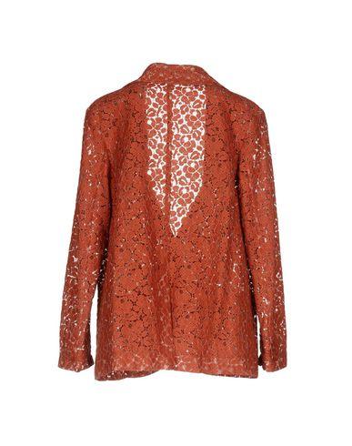 Фото 2 - Женский пиджак  кирпично-красного цвета