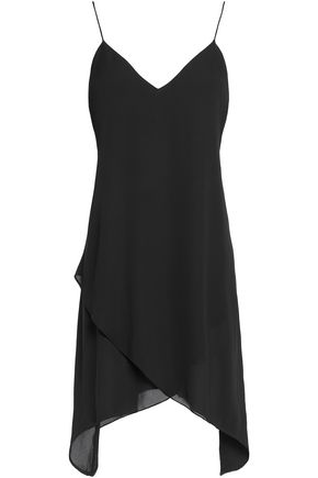 ALICE + OLIVIA Draped layered crepe top