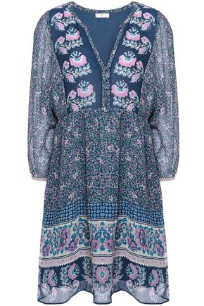JOIE Emlen printed silk-chiffon mini dress