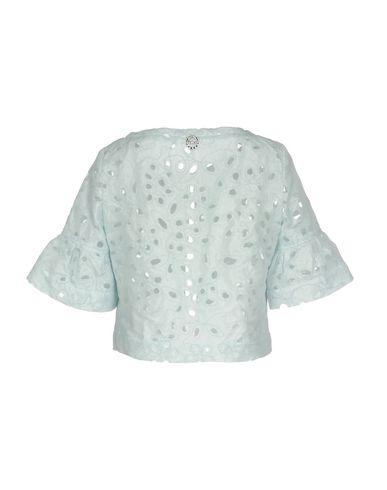 Фото 2 - Женский пиджак  небесно-голубого цвета