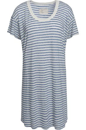 CURRENT/ELLIOTT Striped jersey mini dress