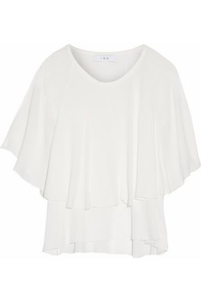 IRO Layered ruffled gauze top