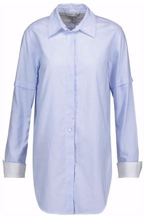 HELMUT LANG Striped cotton-poplin shirt