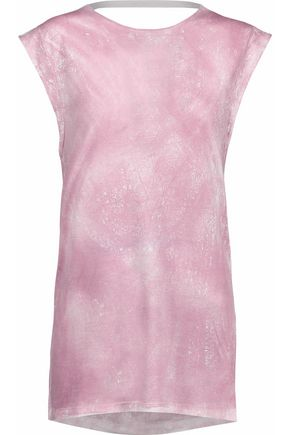 IRO Cutout tie-dye stretch-jersey top