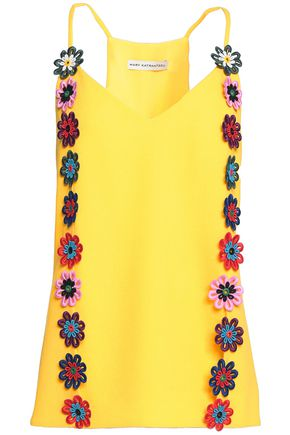 MARY KATRANTZOU Wool-crepe top