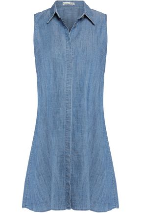 ALICE + OLIVIA Draped chambray top