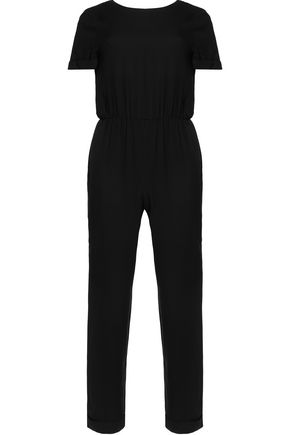 ALICE + OLIVIA Gathered crepe jumpsuit