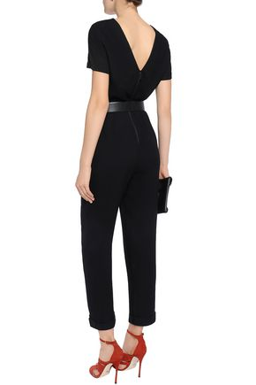 48a1ddd3f94 ALICE + OLIVIA Gathered crepe jumpsuit