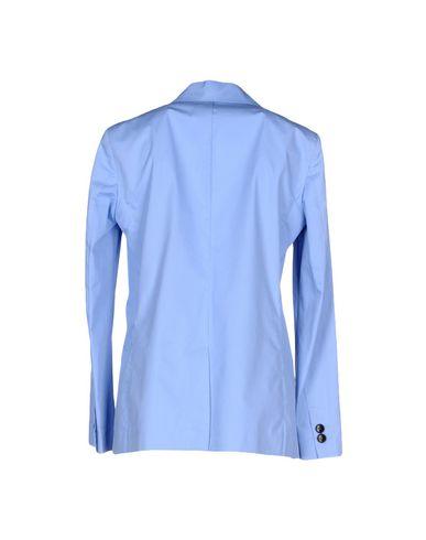 Фото 2 - Женский пиджак  лазурного цвета