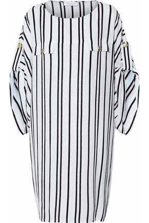 PIERRE BALMAIN Striped silk dress