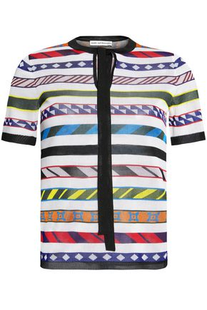 MARY KATRANTZOU Striped knitted top