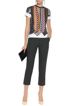 MARY KATRANTZOU Printed stretch-cotton jersey T-shirt