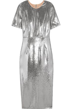 DIANE VON FURSTENBERG Sequined tulle midi dress