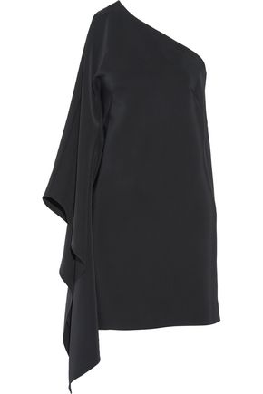 ROSETTA GETTY One-shoulder draped stretch-crepe mini dress