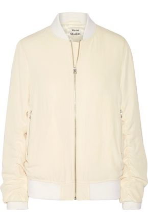 ACNE STUDIOS Leia ruched twill bomber jacket