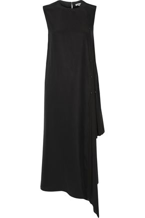 ACNE STUDIOS Smilla chiffon-trimmed silk-crepe midi dress