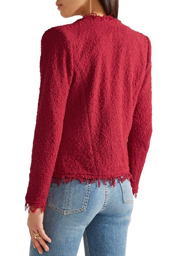 Shavani frayed cotton-blend bouclé jacket | IRO | Sale up to 70% off | THE  OUTNET