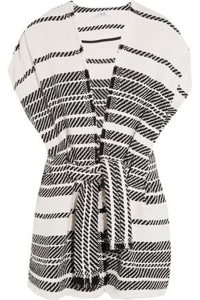 IRO Striped cotton-blend vest