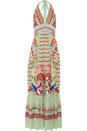 TEMPERLEY LONDON Chimera embroidered silk-chiffon maxi dress