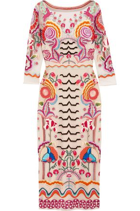 TEMPERLEY LONDON Chimera embroidered tulle midi dress