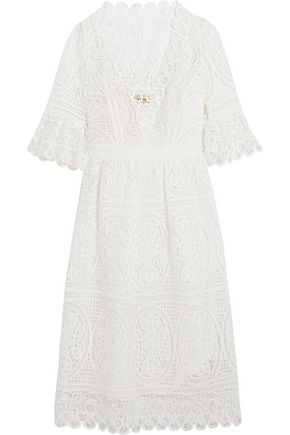 TEMPERLEY LONDON Titania guipure cotton-lace midi dress