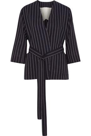ACNE STUDIOS Jada belted pinstriped wool blazer