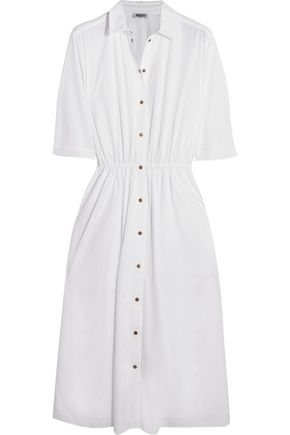 KENZO Embellished cotton-poplin shirt dress