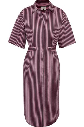 TOPSHOP UNIQUE Tiller oversized striped cotton shirt dress