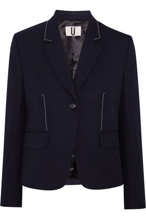 TOPSHOP UNIQUE Hutton wool-twill blazer