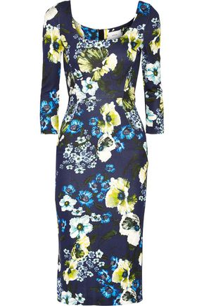 ERDEM Tess floral-print stretch-ponte dress