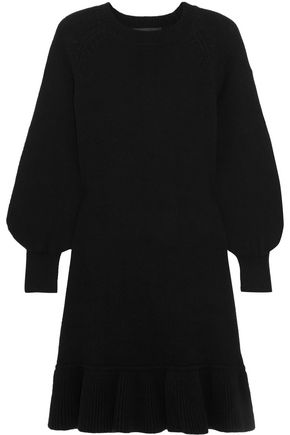 CO Ruffled wool and cashmere-blend sweater dress