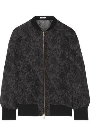 ERDEM Danni organza-cloqué bomber jacket