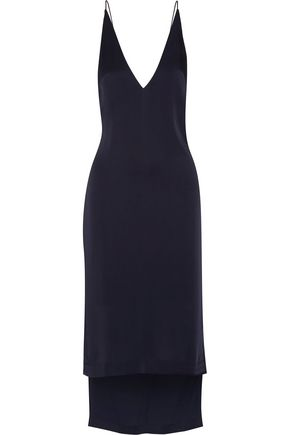 DION LEE Asymmetric satin dress
