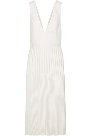 DION LEE Pleated piqué maxi dress