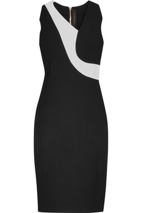 ROLAND MOURET Aaron two-tone crepe dress