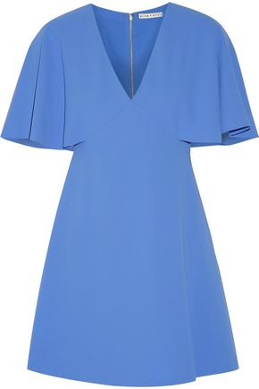 ALICE + OLIVIA Krysta cape-back crepe mini dress