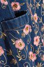 ASHISH Embellished embroidered denim mini dress