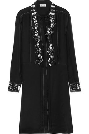 PAUL & JOE Syvette bead-embellished silk-satin mini dress